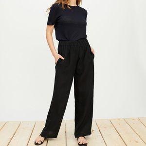 Jenni Kayne Black 100% Linen Pants XS